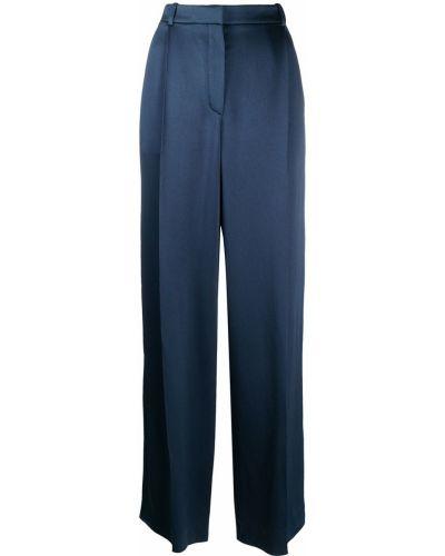 Свободные синие брюки свободного кроя Nina Ricci