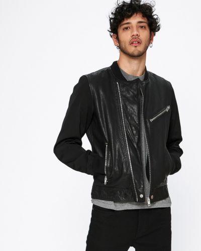 Кожаная куртка укороченная прямая Diesel