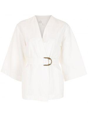 Белая куртка с поясом Nk