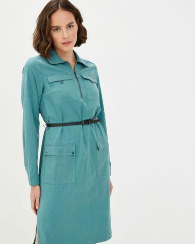 Свободное бирюзовое расклешенное платье Finn Flare