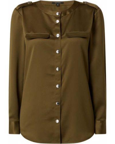 Satynowa zielona bluzka Comma