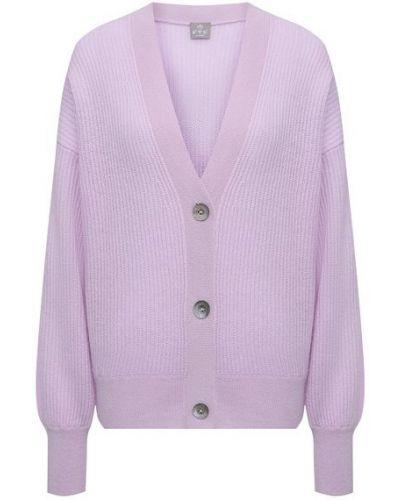 Фиолетовый кашемировый кардиган Ftc