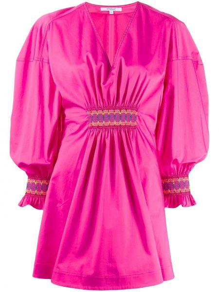 Платье розовое с V-образным вырезом Derek Lam 10 Crosby