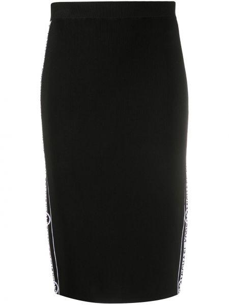 Черная прямая вязаная юбка карандаш Michael Michael Kors