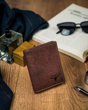 Brązowy portfel skórzany oversize Buffalo Wild
