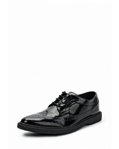 Черные туфли лаковые Topman