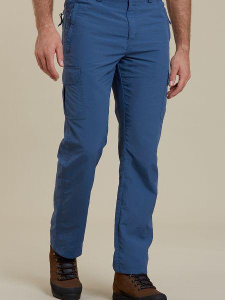 Spodnie - niebieskie Mountain Warehouse