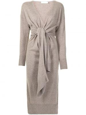 С рукавами трикотажное платье миди с запахом Jonathan Simkhai