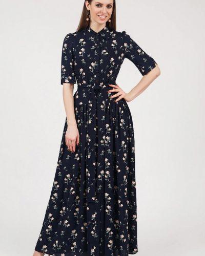 Летнее платье синее оливковый Olivegrey