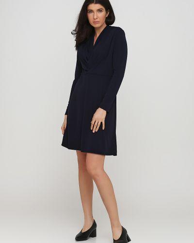 Синее платье макси с подкладкой Kookai