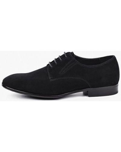 Велюровые черные туфли Vitacci