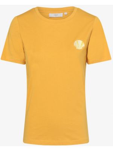 T-shirt z haftem - żółta Minimum