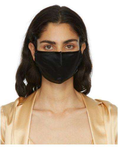 Шелковая черная маска для лица с вышивкой La Perla