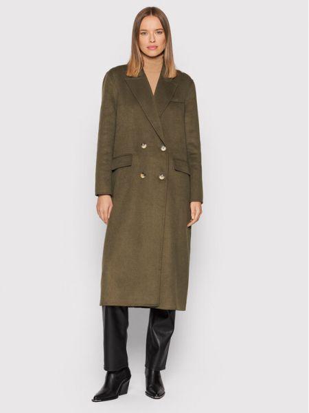 Płaszcz wełniany - zielony Selected Femme
