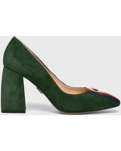 Туфли на каблуке - зеленые Baldowski