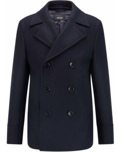 Niebieski płaszcz Hugo Boss