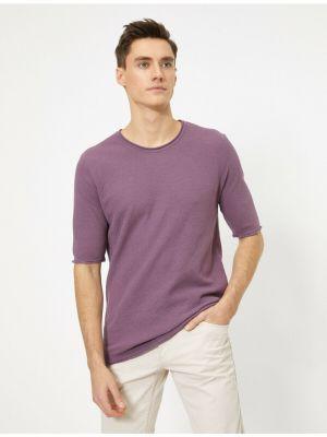 Sweter bawełniany - fioletowy Koton