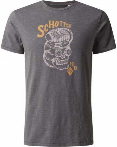 T-shirt z printem Schott Nyc