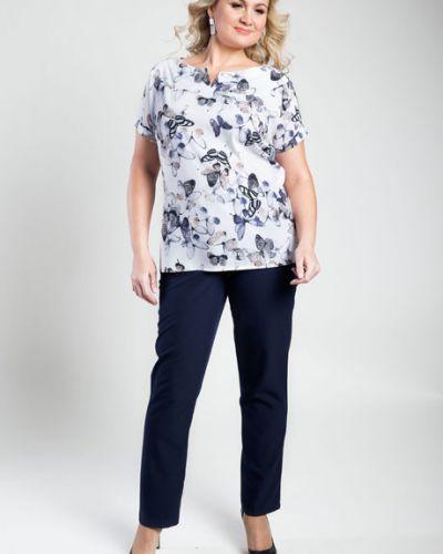 Блузка с коротким рукавом с кокеткой с бабочками Virgi Style
