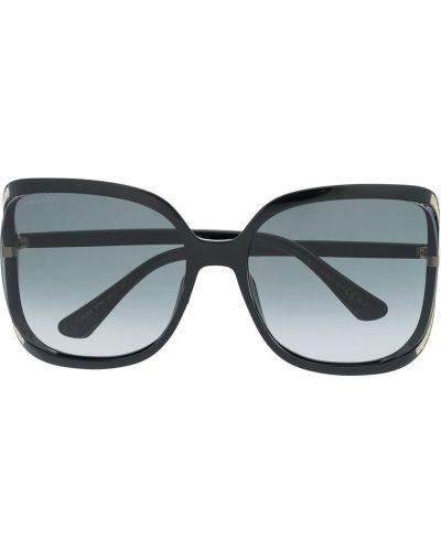 Массивные черные солнцезащитные очки металлические Jimmy Choo Eyewear