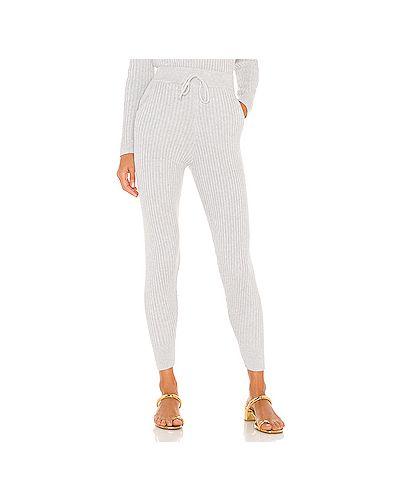 Акриловые серые брюки с карманами на шнурках Majorelle