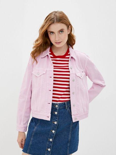 Джинсовая куртка весенняя розовая Tommy Hilfiger