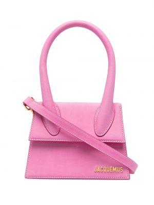 Золотистая розовая кожаная сумка-тоут Jacquemus