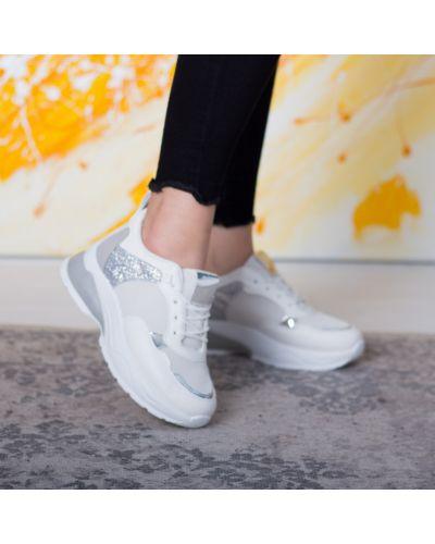 Кожаные белые кроссовки Fashion