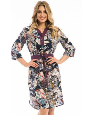 Платье с поясом на пуговицах платье-рубашка Modellos