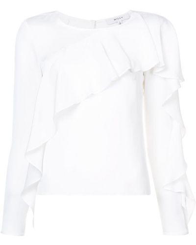 Белая блузка с рюшами Milly
