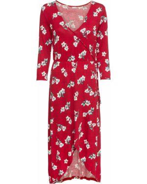 Платье с поясом с запахом на резинке Bonprix