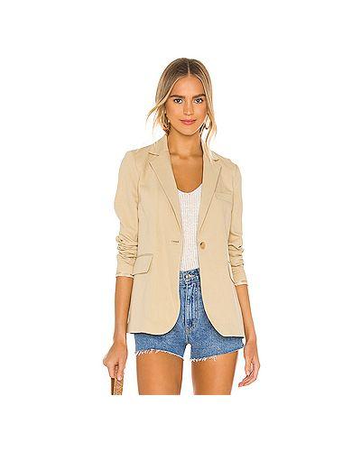 Пиджак на пуговицах с карманами из вискозы с разрезом Nili Lotan