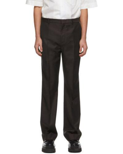 Fioletowe spodnie wełniane z paskiem Acne Studios