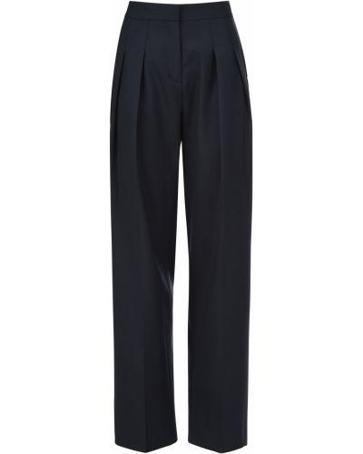 Шерстяные брюки - синие Victoria Beckham