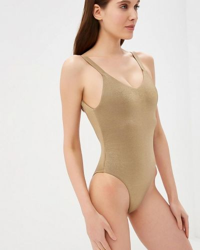 Слитный купальник золотой Vitamin A