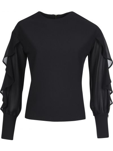 Блузка из вискозы черная Mangano