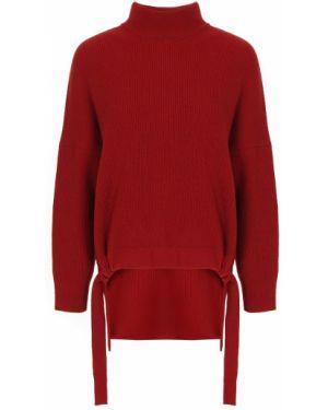 Кашемировый красный свитер с воротником свободного кроя Free Age