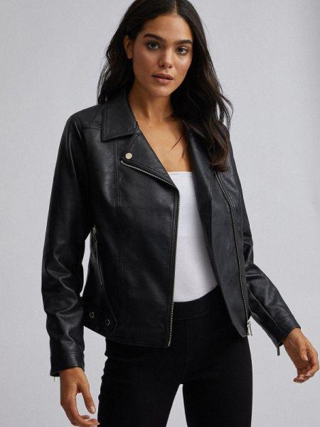 Кожаная куртка черная весенняя Dorothy Perkins
