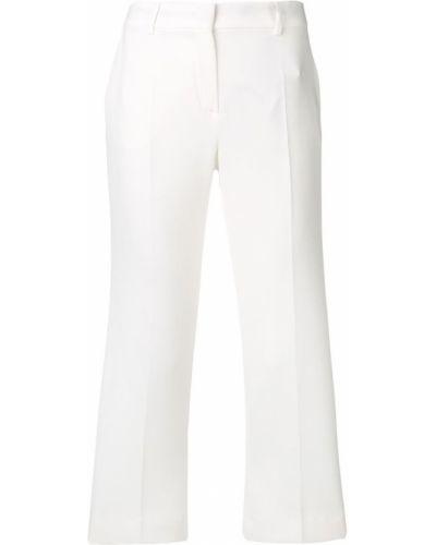 Укороченные брюки с карманами белые Max Mara Studio
