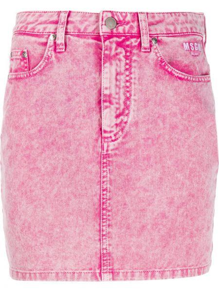 Юбка мини джинсовая с завышенной талией Msgm