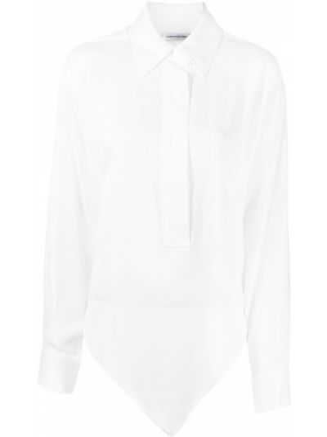 Рубашка из вискозы - белая Christopher Esber
