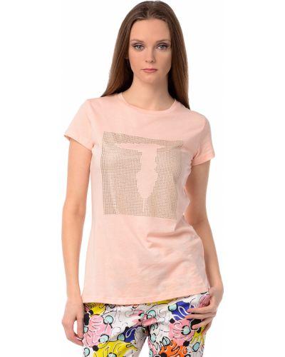 Розовая футбольная футболка Tru Trussardi