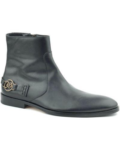 Кожаные ботинки осенние черные John Galliano