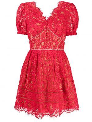 Платье мини короткое - красное Self-portrait