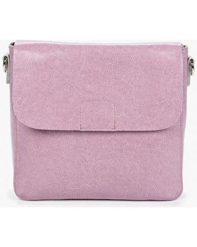 Кожаная сумка через плечо фиолетовый Roberto Jolini