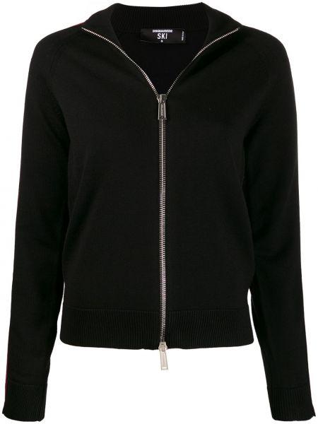 Черная спортивная куртка с манжетами Dsquared2