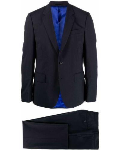 Синий шерстяной костюм с длинными рукавами Paul Smith