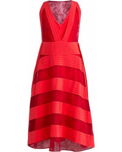 Платье со вставками с V-образным вырезом Valentino
