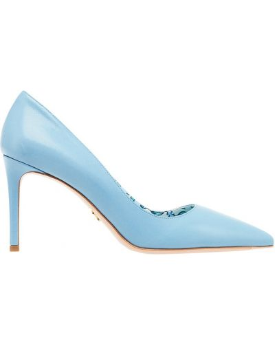 Туфли-лодочки кожаные на каблуке Prada