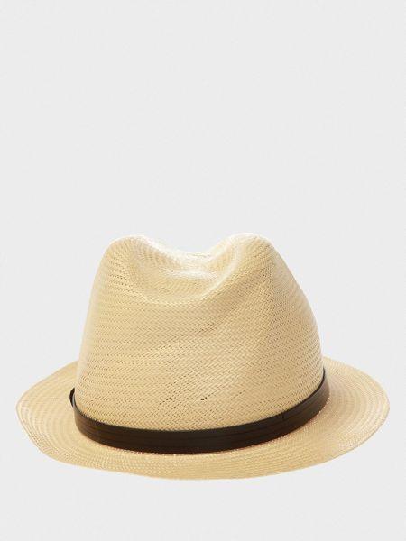Городские бежевые кожаные шляпа Emporio Armani
